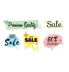 Set of talk and think bubbles sale vector