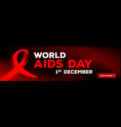 world aids day 1st december world aids day vector image vector image