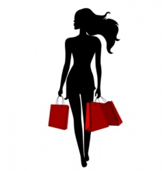 young woman with bags vector image vector image
