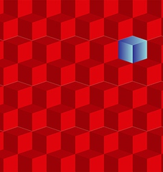 background of red cubes vector image vector image