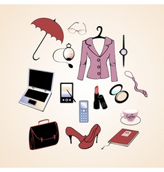 business woman lifestyle vector image