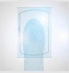 futuristic digital processing of biometric vector image