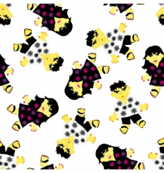 greeting seamless pattern vector image vector image