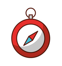 shadow cute red compass vector image