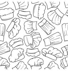 Vintage seamless chef hats pattern vector image vector image