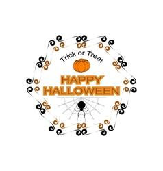Halloween hexagon logo sign vector image