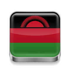 Metal icon of Malawi vector image