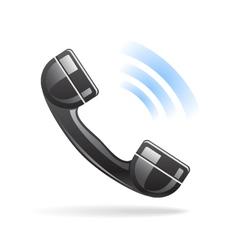 Shiny Phone Icon vector image