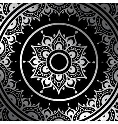 Silver mandala vector image vector image