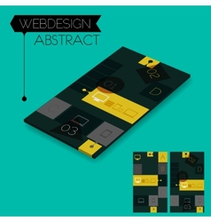 Three dimensional isometric concept with vector image vector image