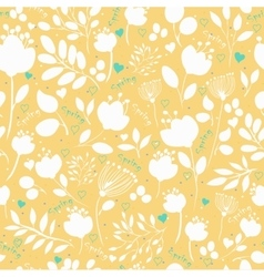 Graceful Spring Flowers Seamless Pattern vector image vector image