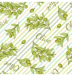 Olive stripped pattern vector