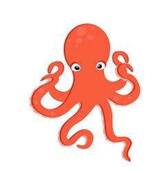 Sea creature octopus vector image