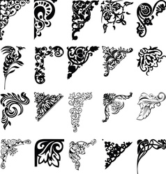 Set Of Twenty One Color Corners Elements Of Design vector image vector image