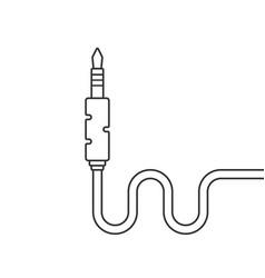 thin line black audio jack vector image
