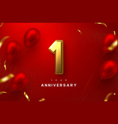 1 year anniversary celebration banner vector