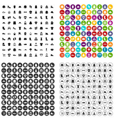 100 rags icons set variant vector image