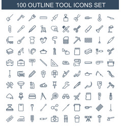 100 tool icons vector