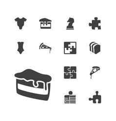 13 piece icons vector
