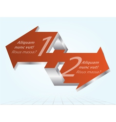 3D Impossible Arrows Inforgraphic Element Icon vector