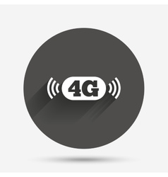 4G sign Mobile telecommunications technology vector image