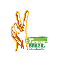7th september brazil independence day vector