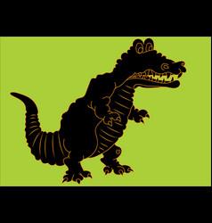 a tyrannosaurus silhouette vector image
