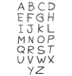 Abc alphabet type font set of vector image