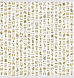 Ancient egyptian hieroglyphs seamless pattern vector