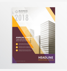 annual report business flyer poster brochure vector image