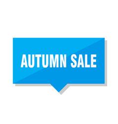 Autumn sale price tag vector