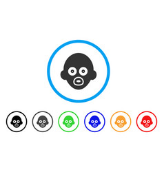 Baby head rounded icon vector