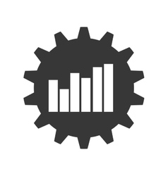 Bars gear infographic data icon graphic vector