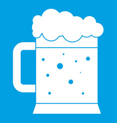 beer mug icon white vector image