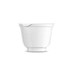 blank rounded white plastic yogurt container vector image