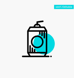 Bottle cola drink usa turquoise highlight circle vector
