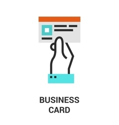business card icon vector image