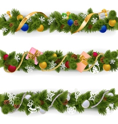 Christmas Border Set 6 vector image