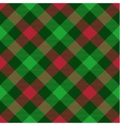 christmas tartan seamless patterns vector image