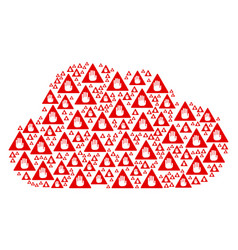 cloud collage of caution icons vector image