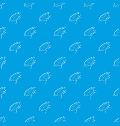 cockroach pattern seamless blue vector image