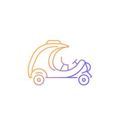 Coco taxi gradient linear icon vector