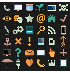 collection of different icons vector image