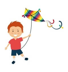 Colorful kite Flying vector image