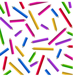 Colour pencils isolated on white background vector