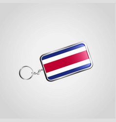 costa rica flag icon design vector image