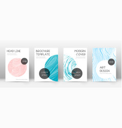Cover page design template trendy brochure layout vector