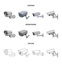 Design camcorder and camera logo vector