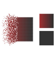 Dissolved pixelated halftone filled square icon vector