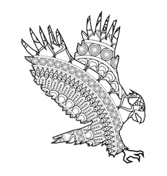 Eagle icon coloring animal vector